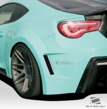 2013-2014 Scion FR-S Subaru BRZ Duraflex 86-R Wide Body Rear Fenders - 2 Piece