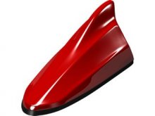 Beat Sonic Functional Shark Fin Antenna-Red