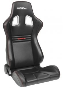 Corbeau Sportline Evolution Reclinable Seat in Black Carbon Vinyl
