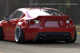 Greddy Rocket Bunny 86 Aero, Ver.3 - Rear Wing (only) Scion FR-S and Subaru BRZ
