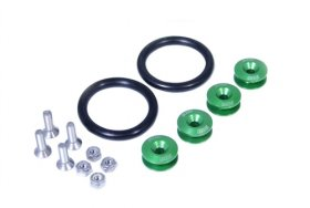 BLACKWORKS QUICK RELEASE FASTENERS SET - GREEN