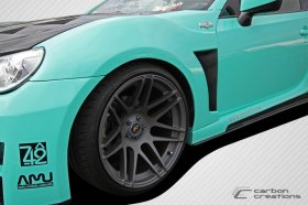 2013-2014 Scion FR-S Subaru BRZ Carbon Creations 86-R Wide Body Front Fenders - 2 Piece