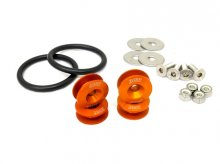 BLACKWORKS QUICK RELEASE FASTENERS SET - ORANGE
