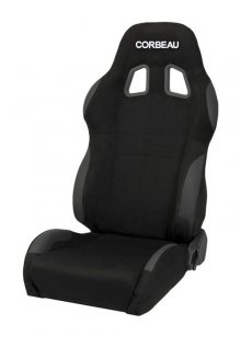 Corbeau A4 Reclinable Seat in Black Microsuede