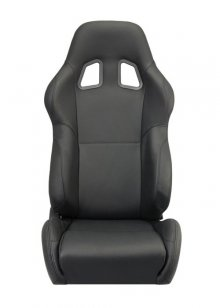 Corbeau A4 Reclinable Seat in Black Leather
