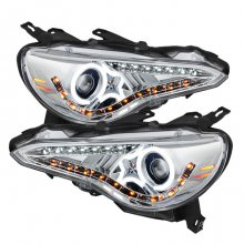 Spyder Auto Chrome LED CCFL Headlights Scion FRS Subaru BRZ 2012 - 2014
