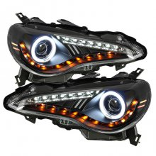 Spyder Auto Black LED CCFL Headlights Scion FRS Subaru BRZ 2012 - 2014