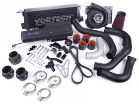 2013 FR-S/BRZ Tuner Kit with V-3 H67B Supercharger and Air/Air Charge Cooler, Black Finish. Tuner Kits do not include fuel ma